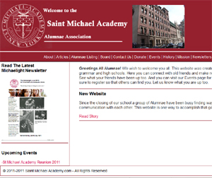 Photo of the Saint Michael Academy.com home page